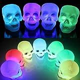 4pcs 8CM Crane LED Changement de Couleur Humain Halloween Decoration d'Atmosphere pour Fete/Soiree/Bar/Restaurant/Discotheque Multicolore