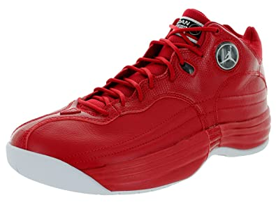 91795e04771e8f Nike Jordan Men s Jordan Jumpman Team 1 Gym Red White Black Basketball Shoe  11.5 Men