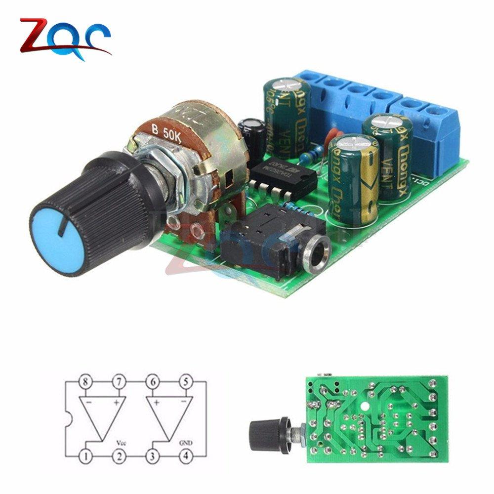TDA2822M 2.0 Kanal 1W×2 Stereo Audio Power Amplifier Board DC 5V 12V CAR AHS
