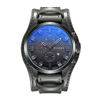 SW Watches Relojes Curren Relojes Militares Analógicos Militares Mens Deportes Ejército Cuarzo Reloj Reloj De Pulsera Impermeable para Hombres 8225 Balck ...
