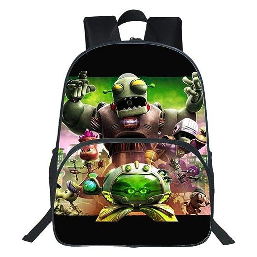 YXRL Mochila Infantil Plantas De Impresión 3D Vs. Zombies Cartoon Primary School Bag Boy Girl Mochila De Viaje M