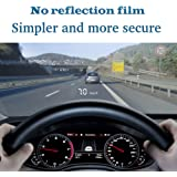 """Car HUD Head Up Display 3.5"""",OBD2/EUOBD Interface Plug & Play,Measure Driving Speed,Display KM/h MPH,Speeding Warning,Water Temperature, battery voltage, Fatigue driving warning"""