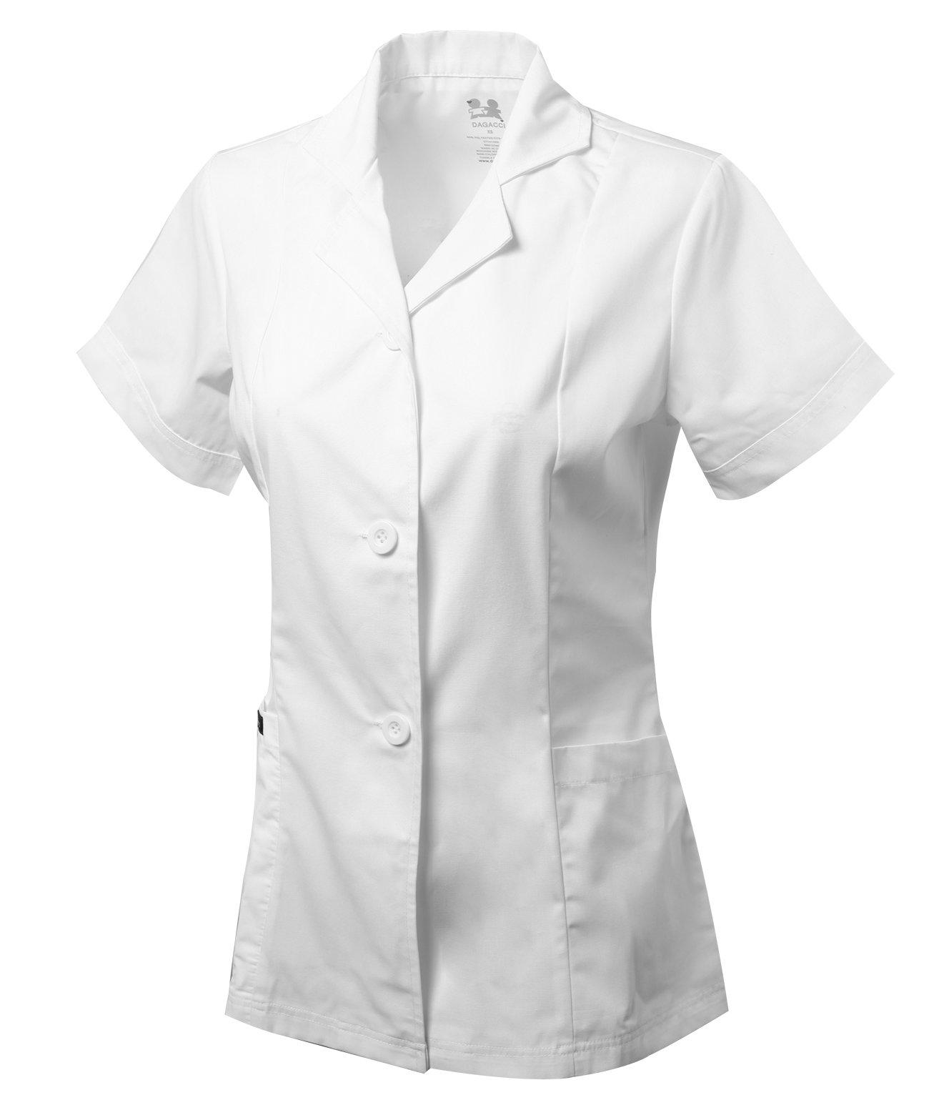 Dagacci Scrubs Medical Uniform Women's Chest Comfortable Short Sleeve Lab Coat (Small) by Dagacci Medical Uniform (Image #2)