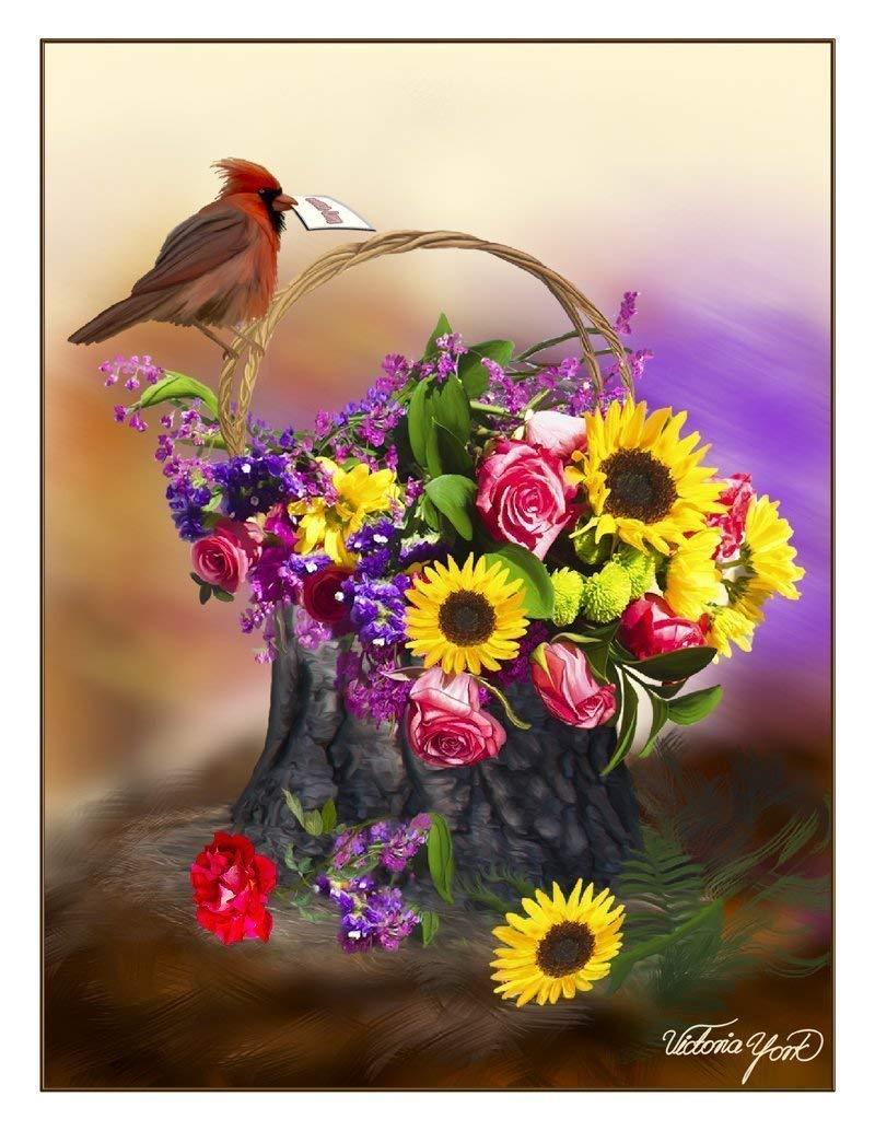 Fine Art Note Card Item No. 08-034-01 Garden Flower Basket