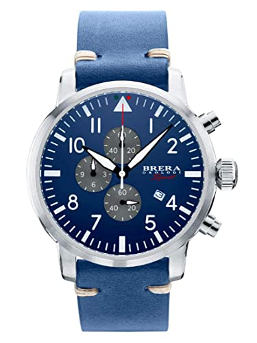 Brera Men's Watch Analogue Quartz Leather Strap mod  Tornado