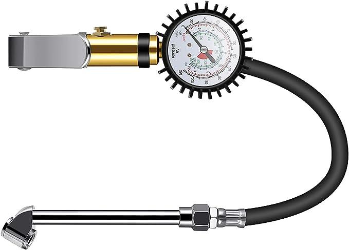 Houkiper Reifenfüller Mit Manometer 220 Psi Luftfilter Heavy Duty Inflator Manometer Mit Gummischlauch Auto