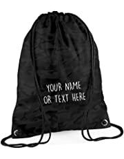 MYOG © Personalised Premium Drawstring Bag PE Gym Kit School P.E Kids Sport Rucksack (22 Colours)