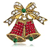 BERRICLE Gold Plated Base Metal Bell Fashion Brooch Pin