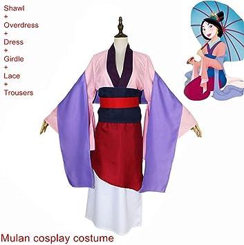 hengGuKeJiYo Disfraz Princesa Mulan Vestidos Película Mulan Dragon ...