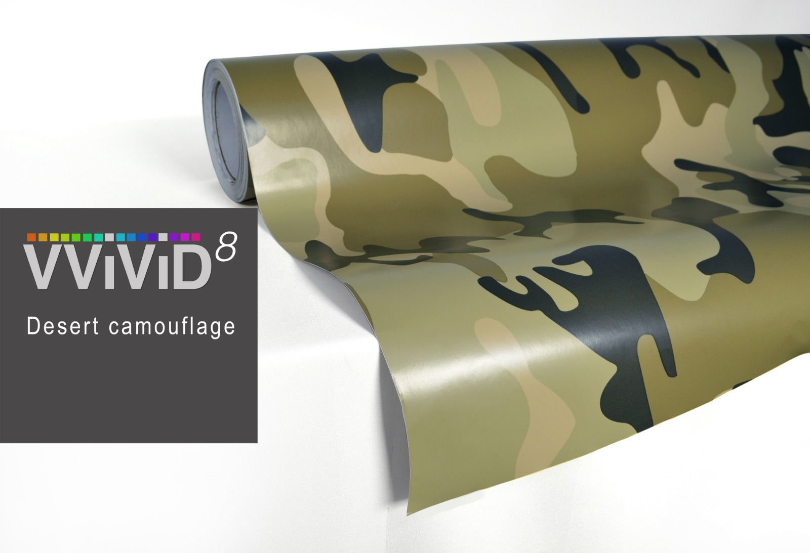VViViD Woodland Camo vinyl car boat vehicle wrap 2ft x 5ft self adhesive stretch conform decal DIY VViViD Vinyls