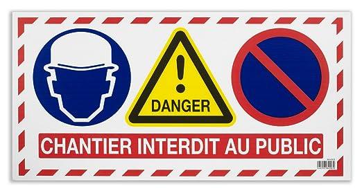 Vinmer 384003 - Cartel de señalización de obra (4 carteles ...