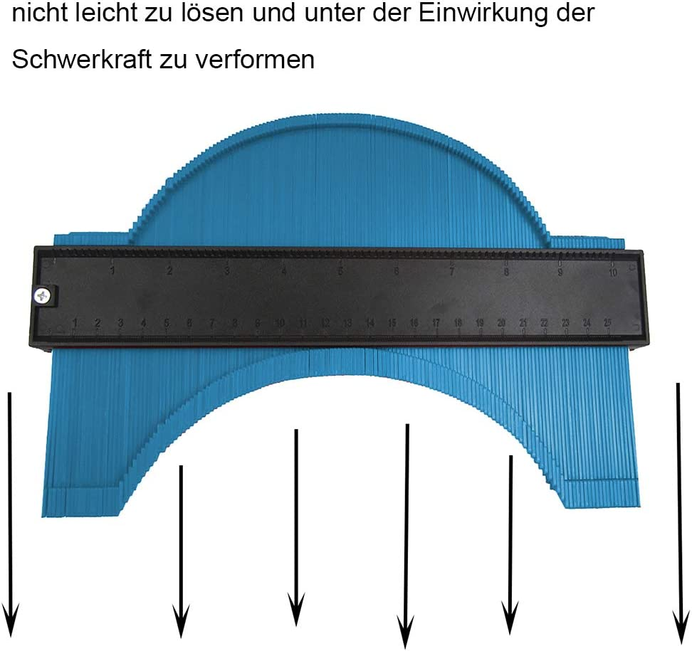Erweitern Sie Konturmessger/ät 10Zoll Unregelm/ä/ßiges Profil Duplizierer f/ür Holzarbeiten Form Tracing Template Measure Tool Profil Jig Guide Pipe Tile Frame Messger/ät Metall Weld