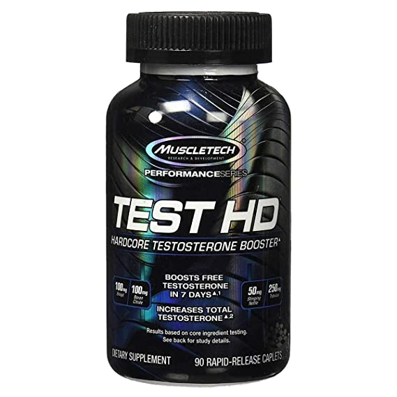 Muscletech Test HD Testosterone Booster - 90 Caplets Sports Supplements at amazon
