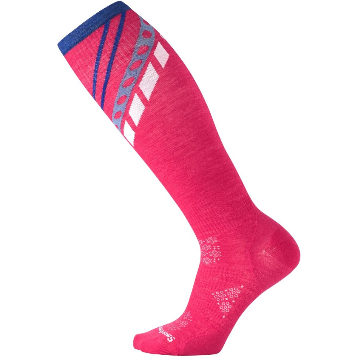 Smartwool Women's PhD Ski Ultra Light Pattern Socks (Potion Pink) Small SW015015-906-S