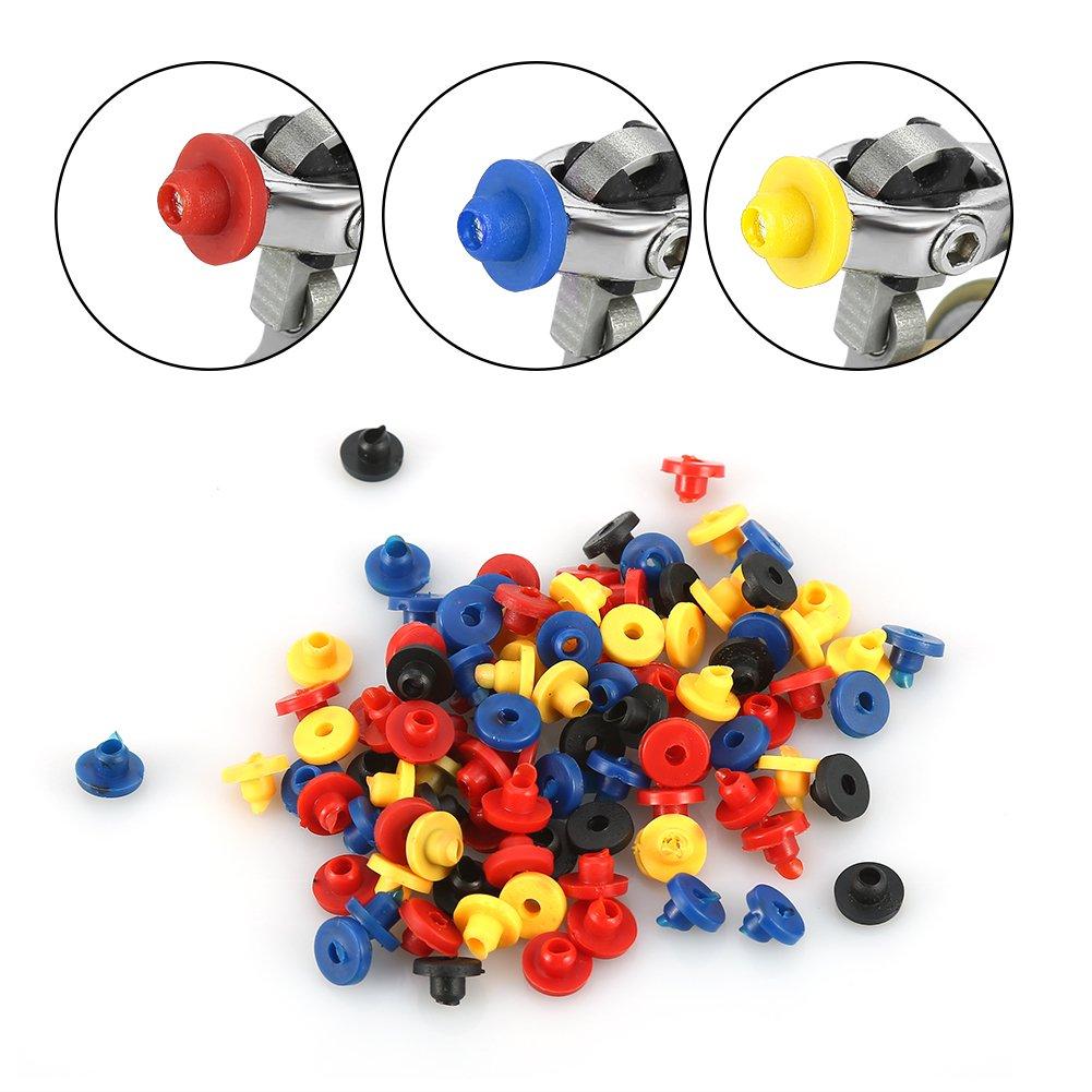 200pcs t/étines en caoutchouc color/ées /à /œillet pour le corps artiste Microblading tatouage Machine Pin fournitures