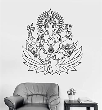 Tatuajes de pared Sticker Art Mural Home Decor Ganesha Hindu ...