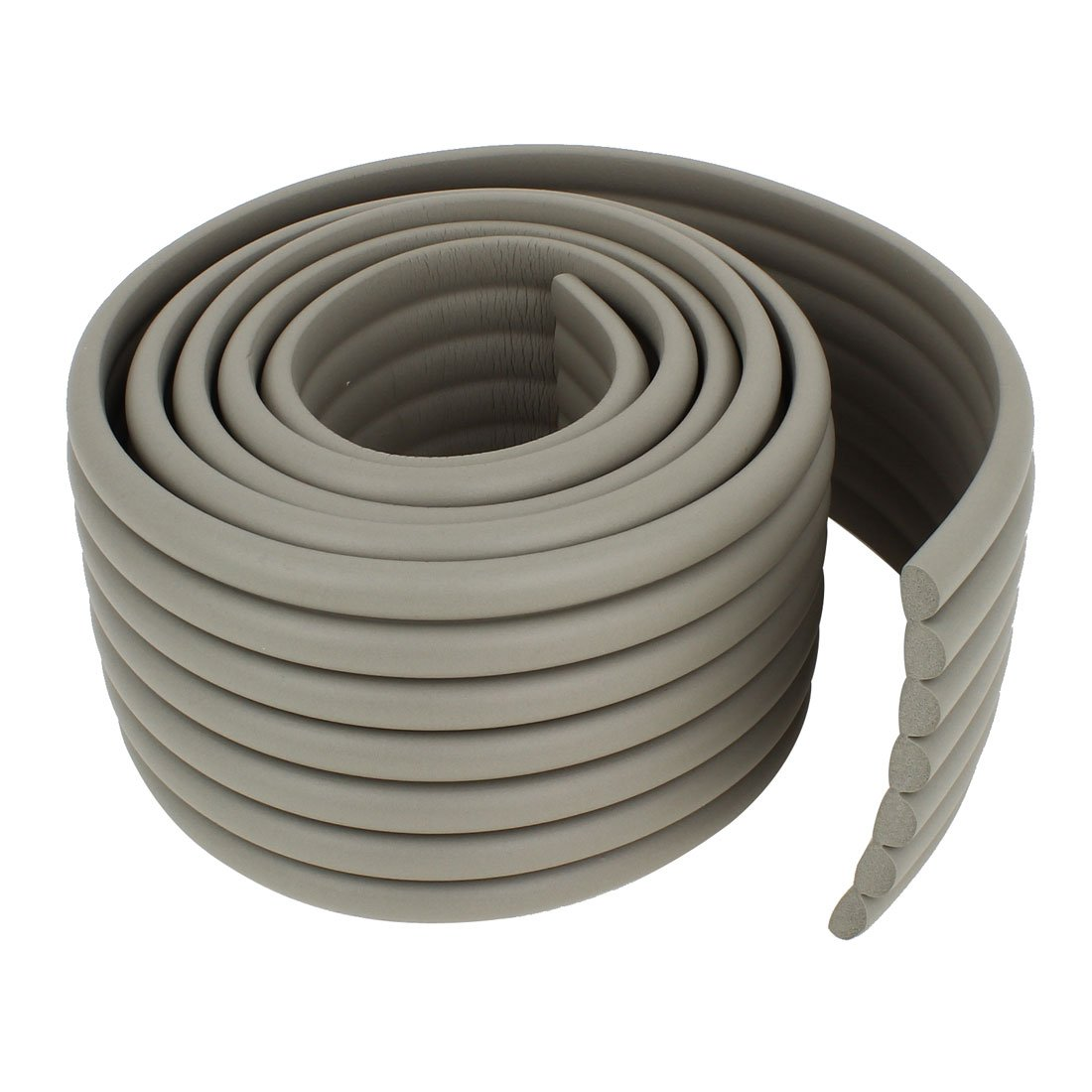 Gray Soft Flexible Foam Table Protector Edge Guard Strip 2M Long uxcell a14080600ux0177