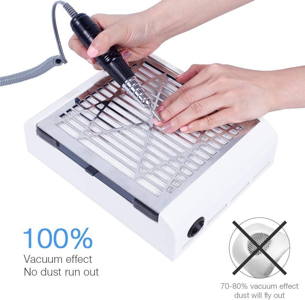 Colector de polvo de succión ventilador uñas eléctrico, Extractor ...