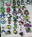 100 Pcs of Large Chunky Stamps Cookie Cutter & Craft Stamp Playful Pets Stars Flowers Varity by Duncan Enterprises