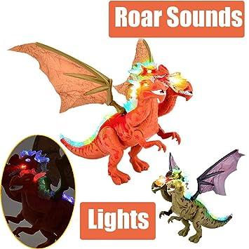 Amazon.com: LtrottedJ - Figura de dinosaurio con luces y ...
