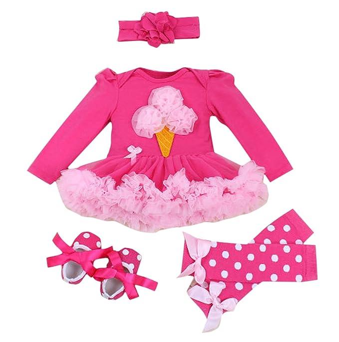FEOYA - (conjunto de 4)Falda Bebés Tutú Niñas Vestido para Recién ...