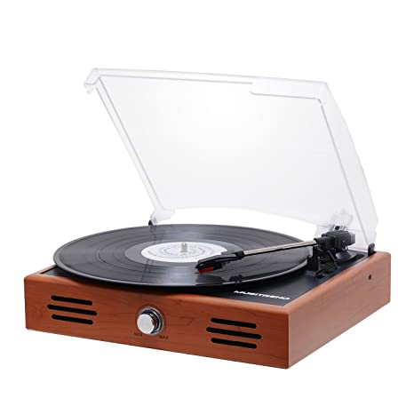 Etonnant Musitrend Mini Stereo Turntable 3 Speed Record Player With Built In  Speakers, Vinyl To