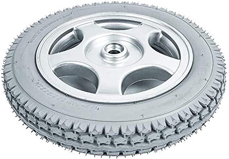 Accesorios para sillas de ruedas Ruedas Ruedas traseras Montaje, unidad eléctrica Silla de ruedas Silla de ruedas Neumático 12 pulgadas de ruedas de alimentación con neumáticos antideslizantes de goma