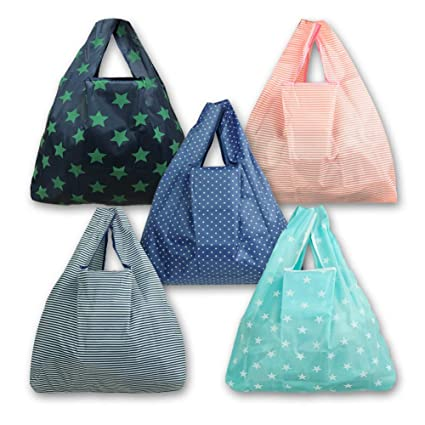 907d6b982 Amazon.com  Foldable Rusable Grocery Bags