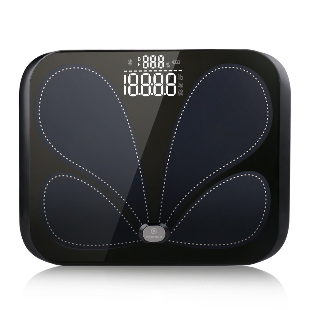 iHomon Smart Bluetooth Scale - Highly Accurate Body Fat Monitor with App to measure Weight, Body Fat, Muscle Mass, Bone Mass, Water, Protein, BMI, BMR