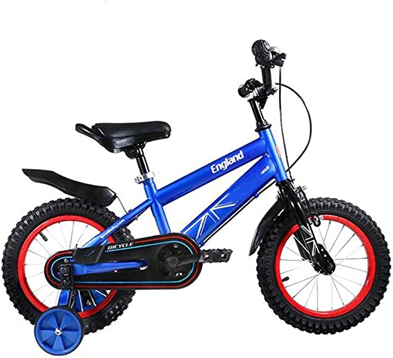 LVZAIXI Bicicletas para niños para niños y niñas 3-6 años Carro para bebés 12/14/16 Pulgadas Bicicleta para niños Bicicleta de montaña (Color : 14 Inch - Blue): Amazon.es: Hogar