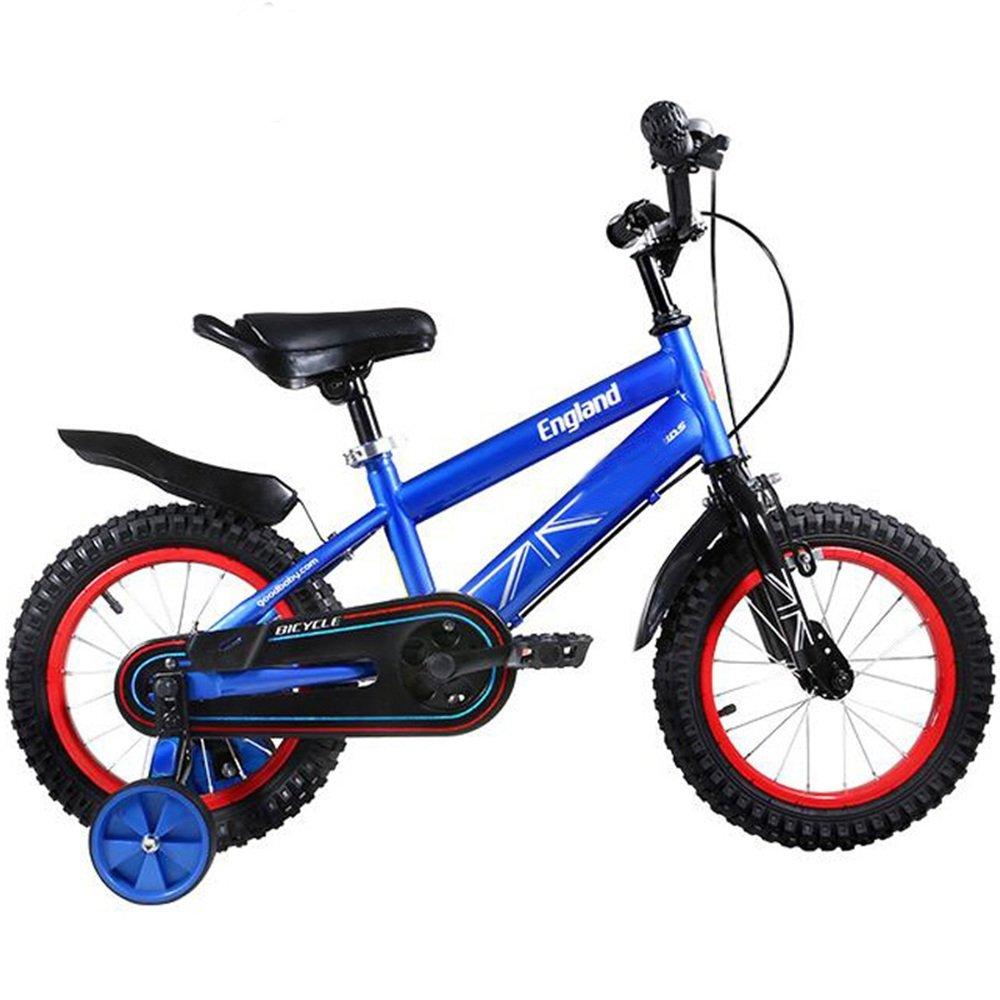 YANGFEI 子ども用自転車 男の子と女の子のための子供用自転車3-6歳の赤ちゃんキャリッジ12/14/16インチの自転車マウンテンバイク 212歳 B07DWVW3FQ14 inch blue