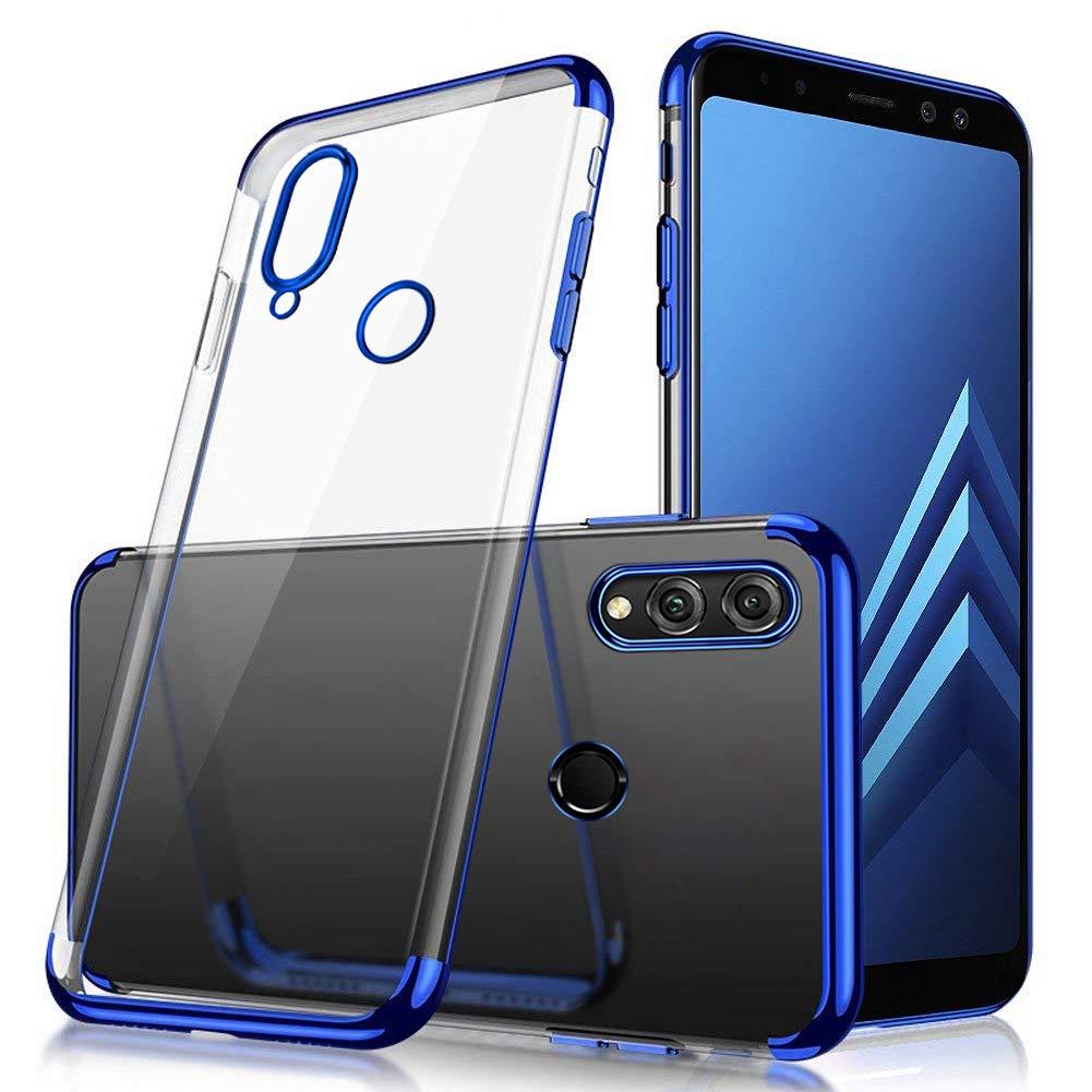 Uposao Handyhülle für Huawei Honor 8X, Hülle Silikon Transparent Durchsichtig Handy Hülle für Huawei Honor 8X, Kratzfeste Plating TPU Case mit Überzug Farbig Rahmen Hülle Klar Silikonhülle Bumper [Crystal Clear] Ultra Dünn TPU Silikon Schutz Handy Hülle Ha
