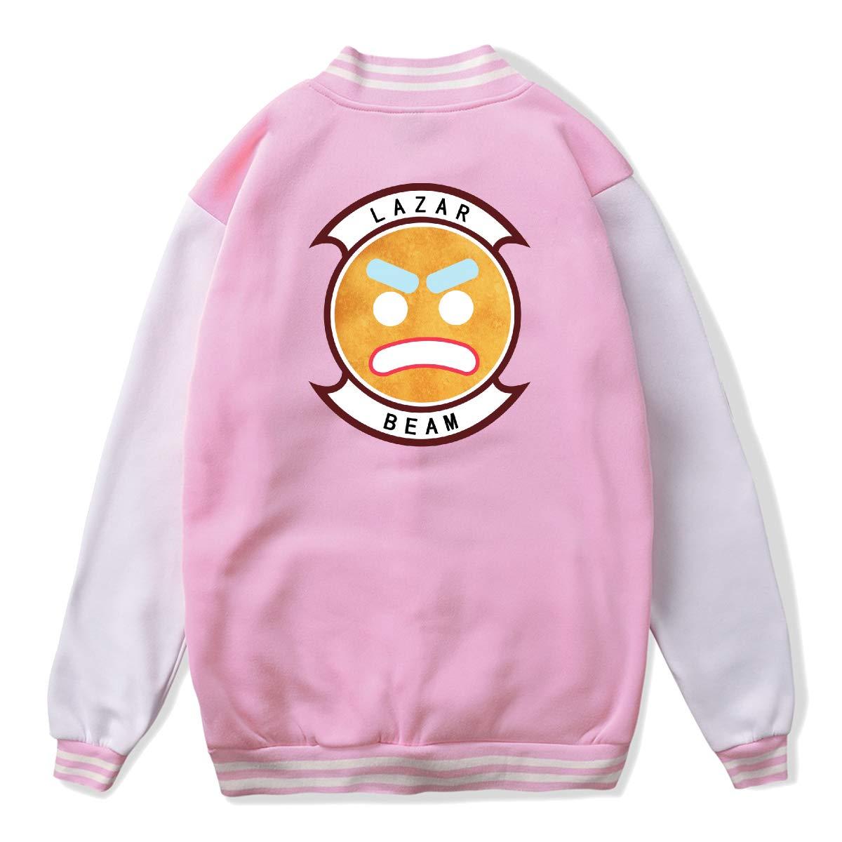 Youth Boys Girls Lazarbeam Uniform Baseball Jacket Loose Coat for Girls Boys Pink M by Lakssn