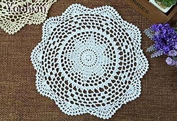 Bluelss Neue Weiße Spitze Baumwolle Häkeln Tischdecke Neues Jahr