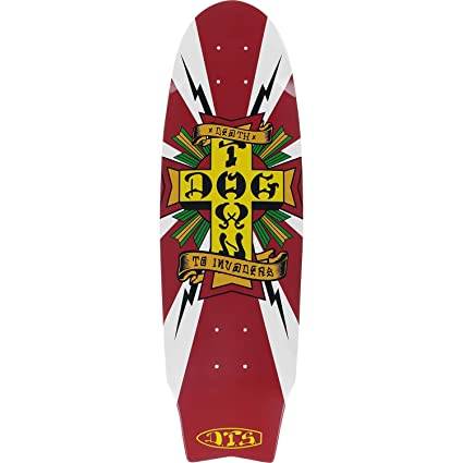 bcc1e2f03b Amazon.com : Dogtown Skateboards Death to Invaders White Skateboard ...