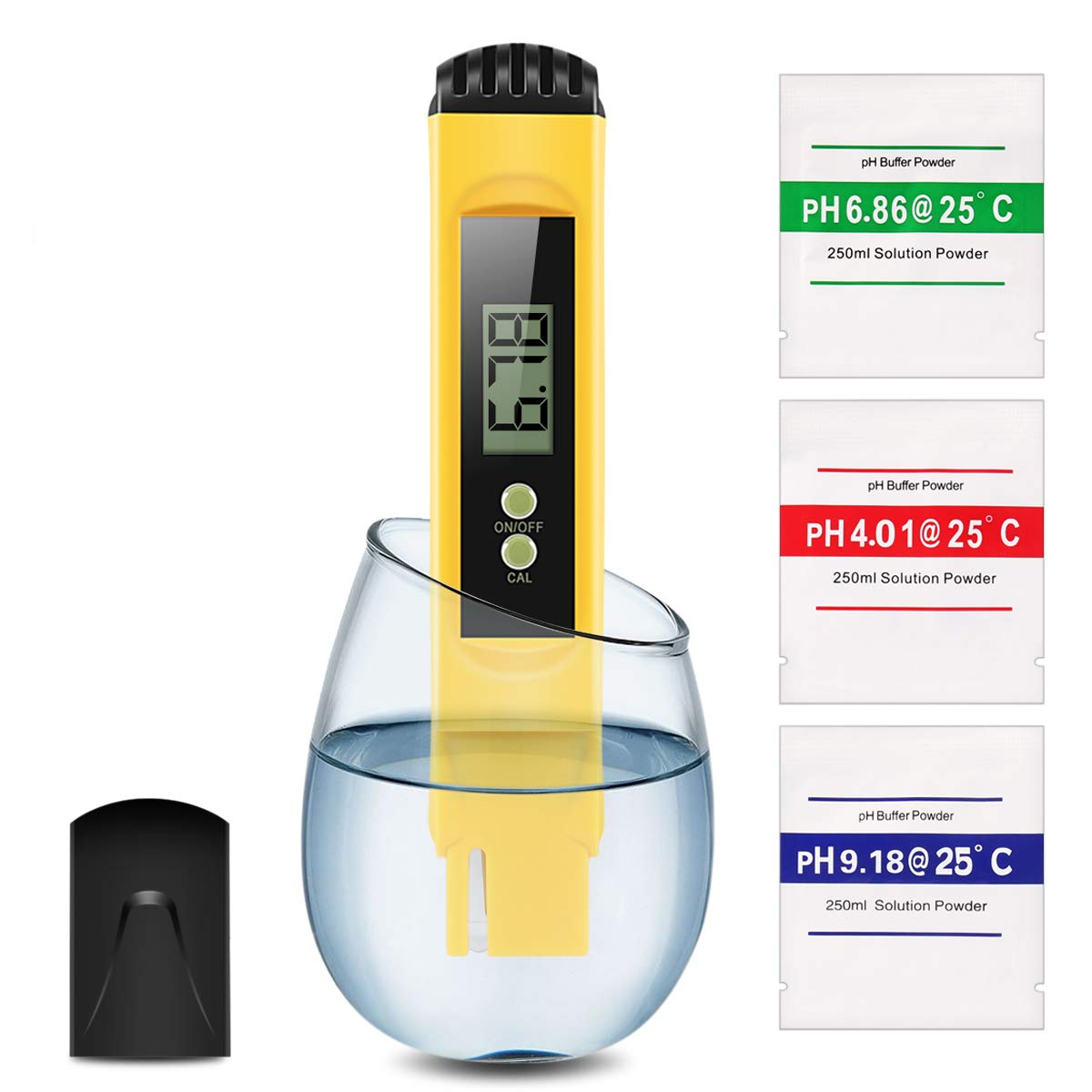 Digital PH Meter, Water Quality Tester 0.01 PH High Accuracy and 0-14 PH Measurement Range, Ideal Water Test Meter for Household Drinking Water, Aquariums, ATC by Pop V