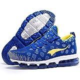 ONEMIX Mens Mesh Sneakers Air Cushion Running Walking Traling Shoes Blue Yellow Size 12 US