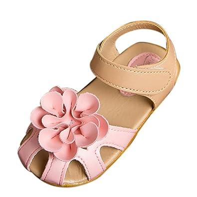 643d0289229f2 ♬GongzhuMM Sandales Bébé Fille 21-30 Chaussures Fille Été avec Grande  Fleurs Chaussures de
