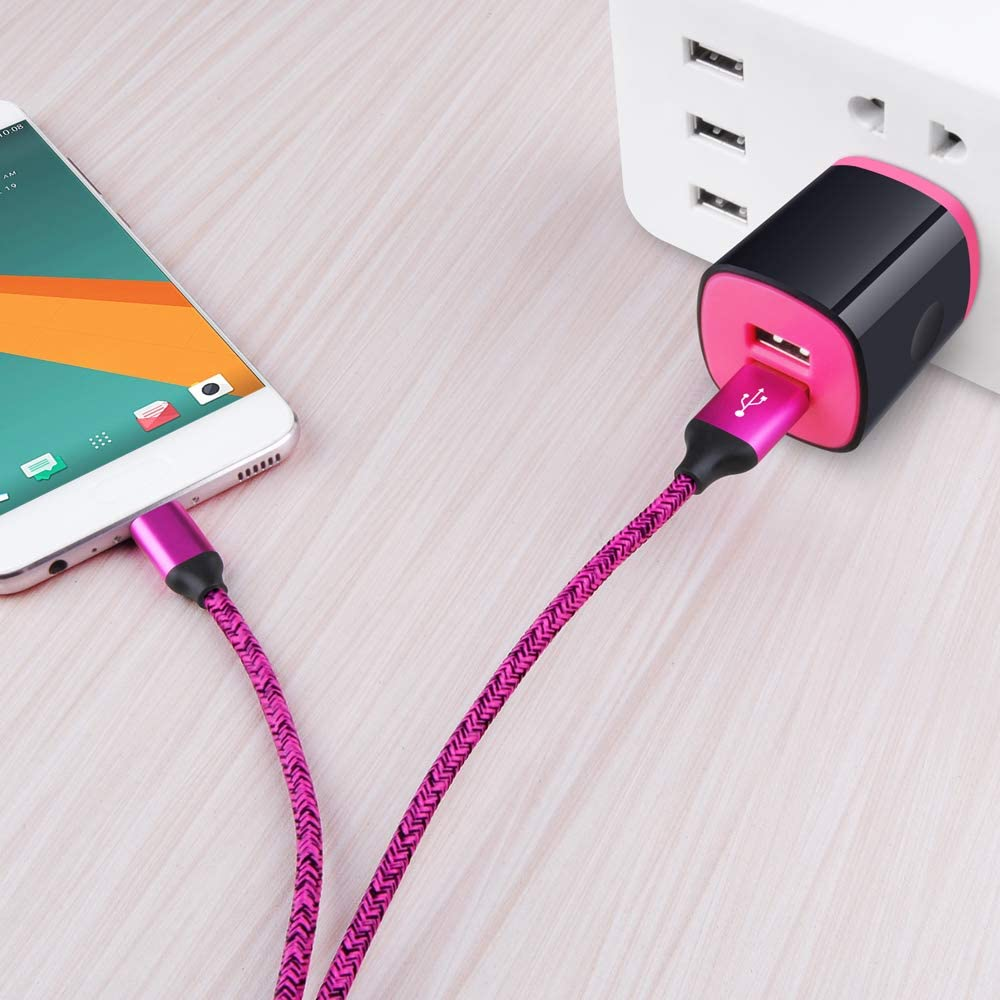 USB Type C Charger Compatible for Moto Z3 Play//G6//G6 Plus//G7//G8 Play Power//Z4//Z2 Force//Z2 Play//X4//Z//Z Droid//Z Force Droid,AndHot 2 Port USB Adapter Wall Charger with 6FT USB C Fast Charging Cable Cord