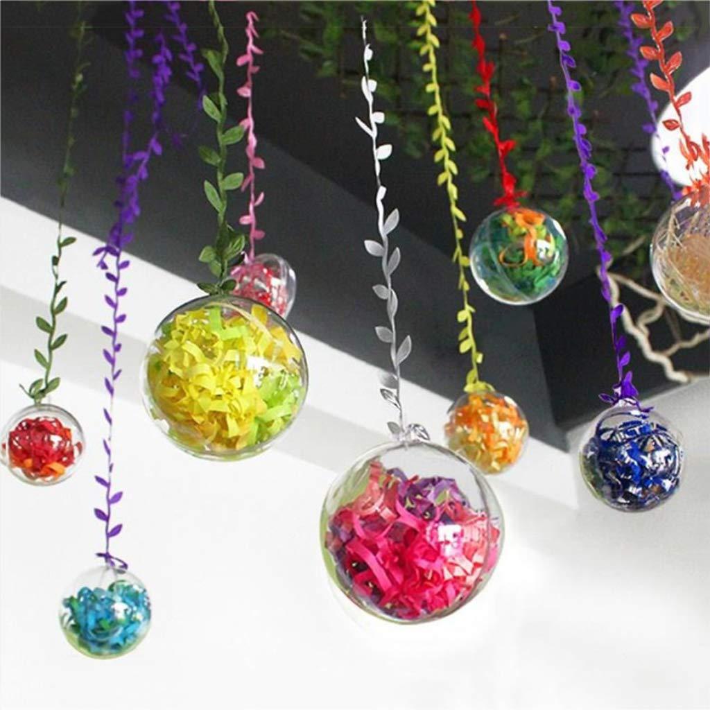 13,5 cm Baoblaze Erf/üllbare Acrylkugeln Bastelkugeln Weihnachtskugeln Baumkugeln Dekokugeln Basteln Handwerk