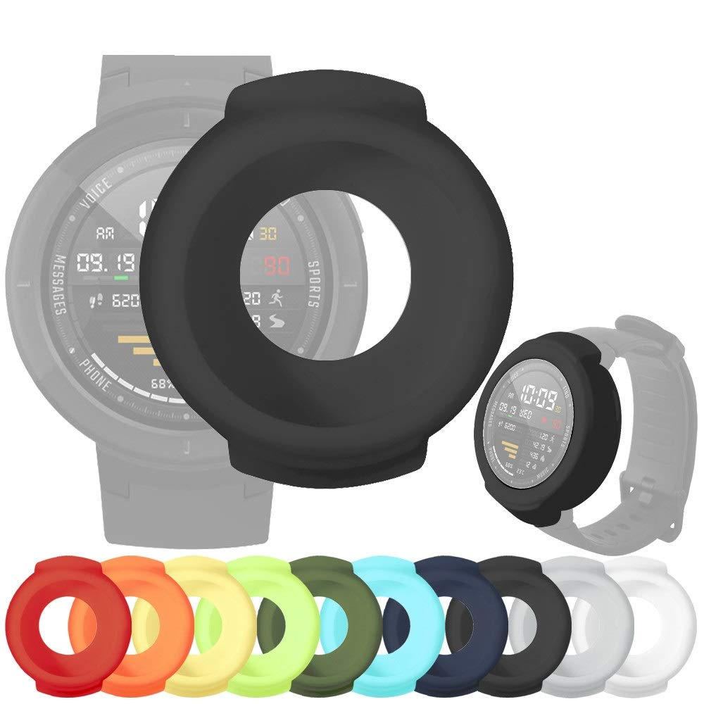 Amazon.com: OUBAO Smartwatch Case Full Cover Shell Screen ...