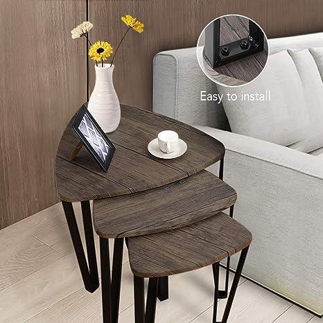 Amazon.com: PexFix Nesting - Juego de 3 mesas auxiliares de ...