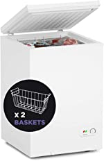 Northair Chest Freezer - 3.5 Cu Ft with 2 Removable Baskets