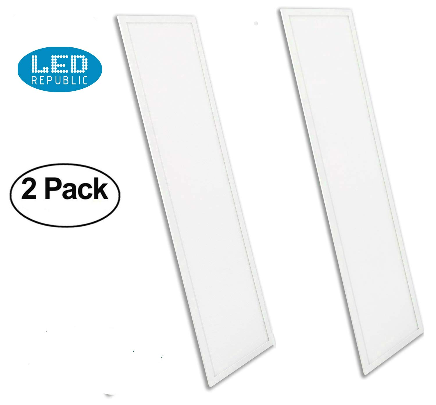 Led Republic Ul Panel 2 Pack Light 1x4 40w 5000k 4300 Lumens T3 Fixture Wiring Diagram Daylight Dlc Qualified Eligible For Nationwide Rebate Programs Flat Celling Sheet