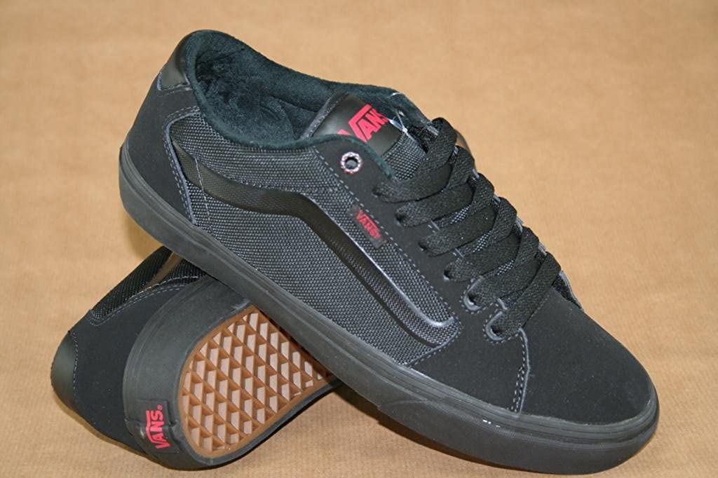 Vans Faulkner, Herren Sneaker Schwarz BlackRedBlack 41.5