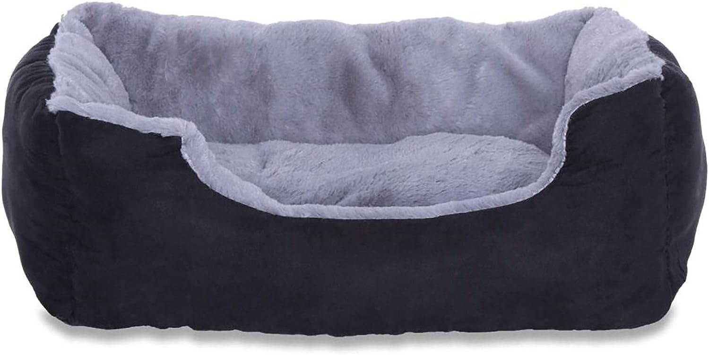 dibea DB00520 - Cama Perros con Cojín, color Gris/Negro, Tamaño S, 50x37 cm