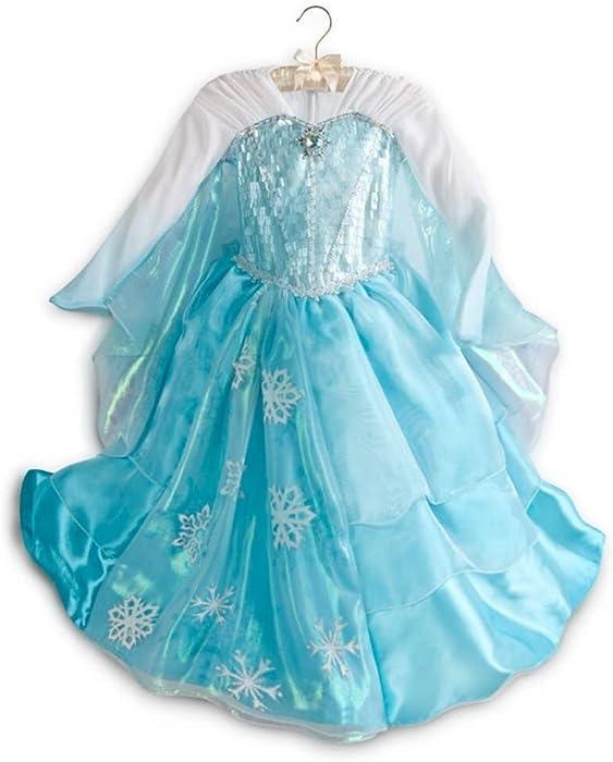 d08c2fbbe4612 Disney Store Frozen Deluxe Elsa Costume Dress - Size ... - Amazon.com