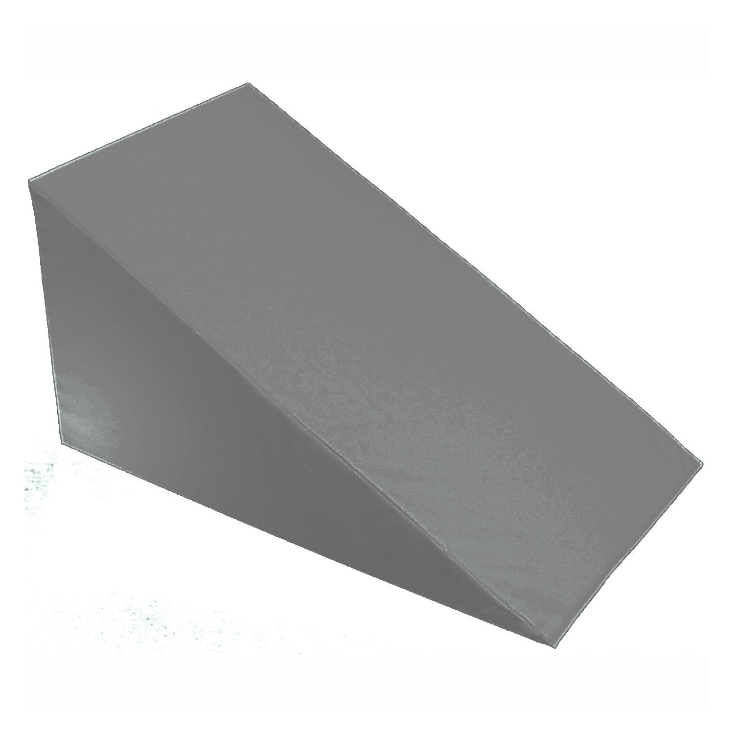 "7"", 10"", 12""- inch Foam Bed Wedge Zippered Cover / Pillow Replacement COVER (24"" X 24"" X 7"", Smoky)"