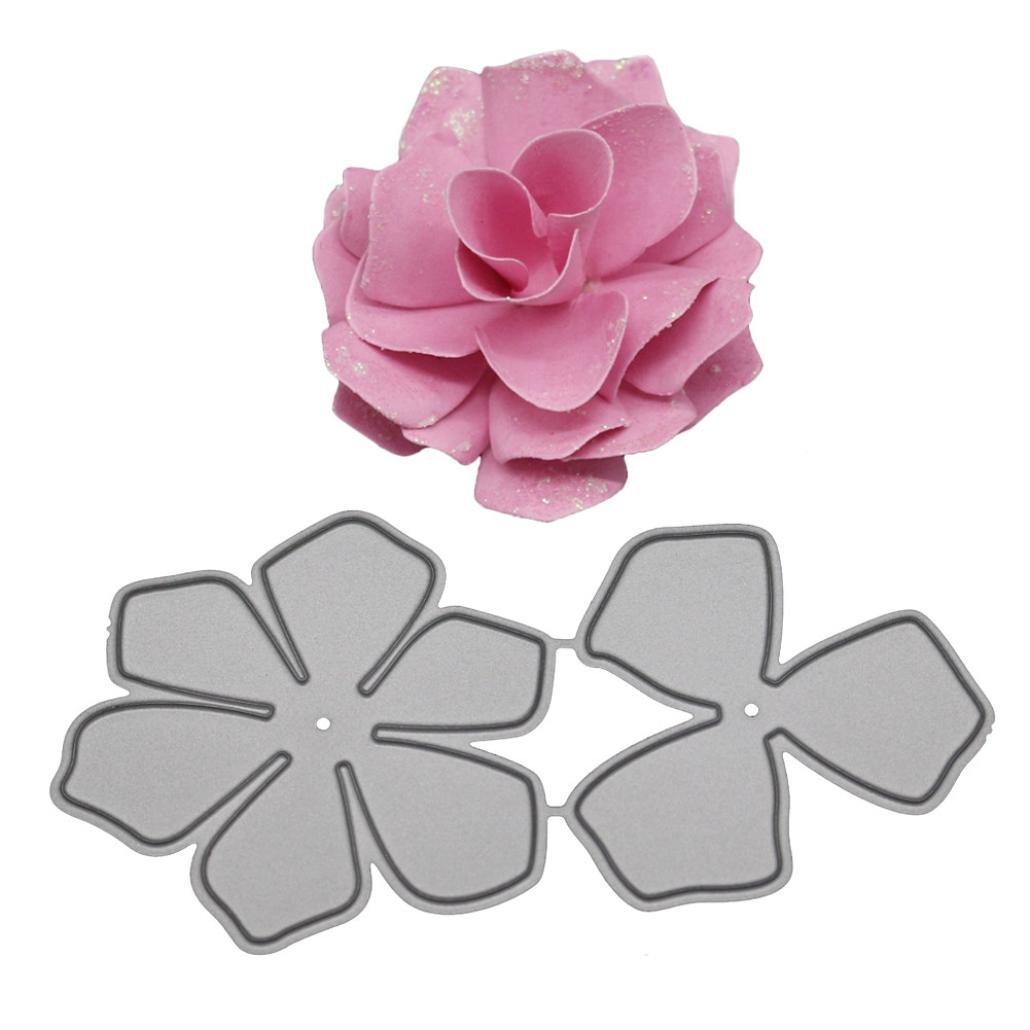 Covermason New Flower Heart Metal Cutting Dies Embossing Stencil