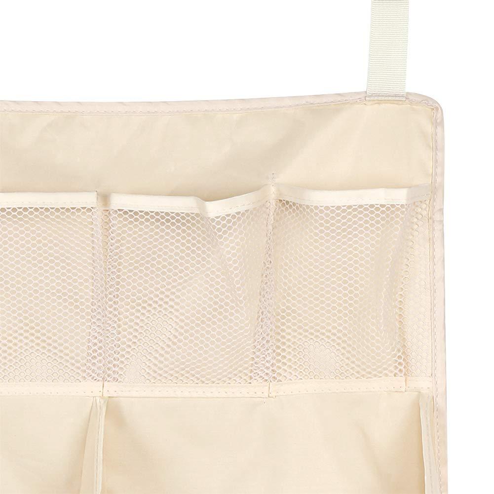 Bolsa de almacenamiento de pa/ñales Ichiias organizador de bolsa de almacenamiento para colgar cuna para pa/ñales juguetes biber/ón de tejido
